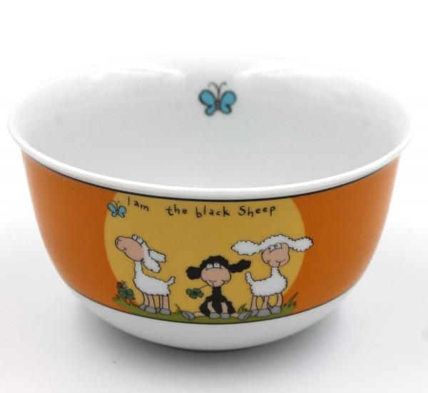 Müsli-Schale, I am the black Sheep, orange, schwarzes Schaf, Ritzenhoff, 14x8cm