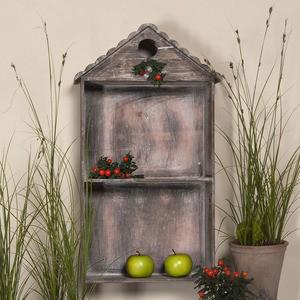 Wandregal Napoli aus Holz - 67 x 35 x 17 cm - Regal Schrank - Landhaus Antik Loo