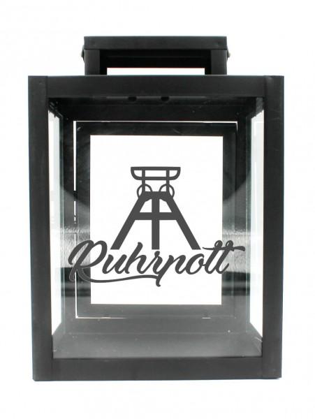 Metall-Laterne Ruhrpott Förderturm schwarz 25x18x13cm für LED-Kerzen