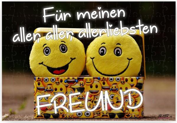 Puzzle-Botschaft eckig, Für meinen aller-liebsten Freund, 120 Teile 27x18cm inkl. Geschenk-Beutel, WB wohn trends®