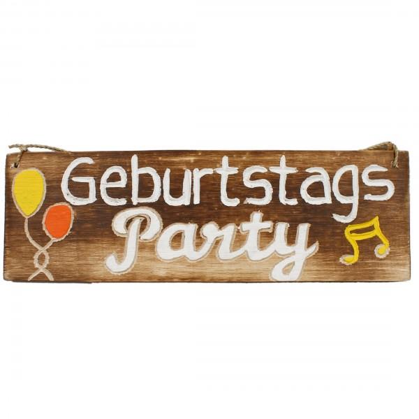 Süßes Tür-Schild aus Mango-Holz / Wegweiser, Geburtstags-Party, 29,5 x 9,5 cm