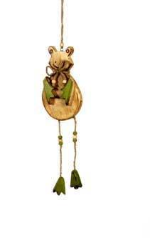 Deko Hänger - Frosch Rana - klein - aus Holz 50cm