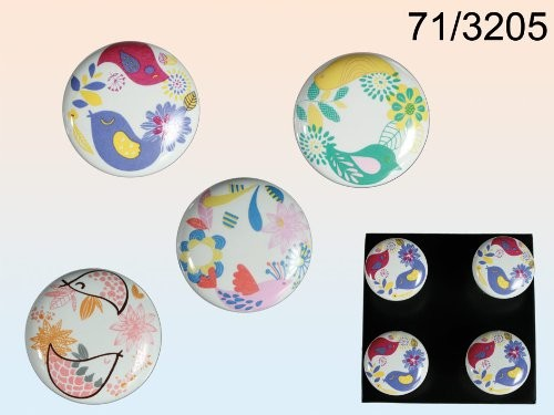 Keramik-Möbelknopf - Colourful Bird