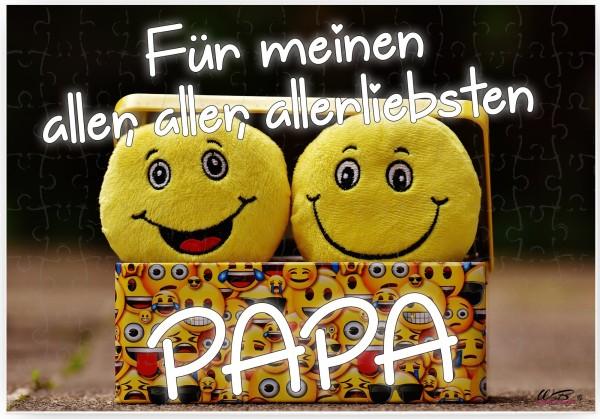 Puzzle-Botschaft eckig, Für meinen aller-liebsten Papa, 120 Teile 27x18cm inkl. Geschenk-Beutel, WB wohn trends®
