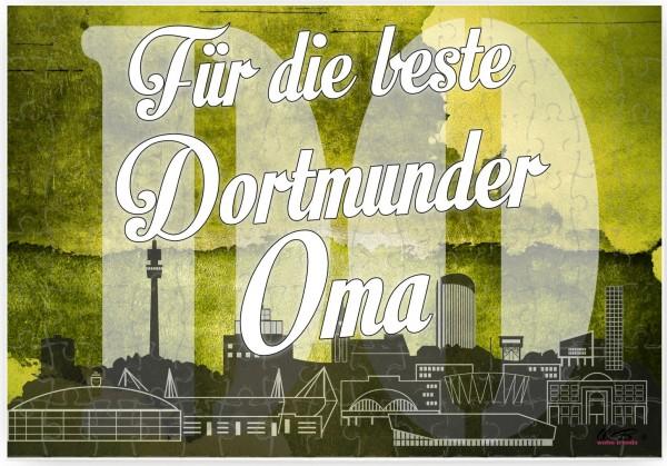 Puzzle-Botschaft eckig ~ Für die beste Dortmunder Oma - Dortmund ~ 120 Teile 27x18cm inkl. Geschenk-Beutel ~ WB wohn tre