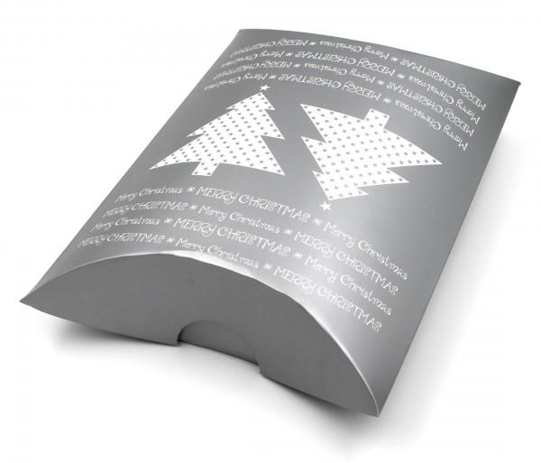 XXL-Geschenkschachtel, SILBER Merry Christmas - Weihnachten, 30,5x23x7,5cm, Farbe/Motiv wählbar, Kiste Geschenk-Box aus Pappe
