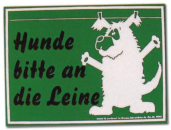 PST-Schild - Hunde bitte an die Leine - Hund Schild Warnschild Warnzeichen Arbeitssicherheit Türschild Tür Kunststoff Ge