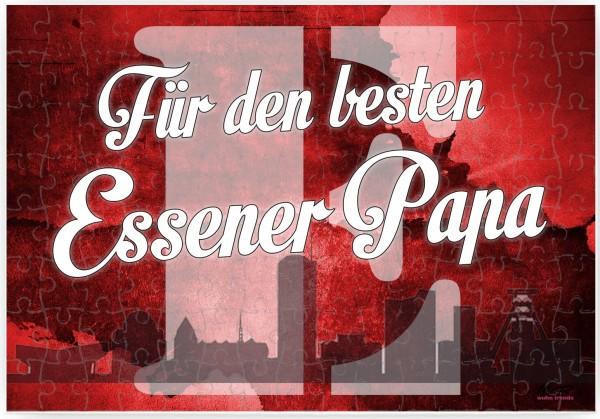 Puzzle-Botschaft eckig, Für den besten Essener Papa - Essen, 120 Teile 27x18cm inkl. Geschenk-Beutel, WB wohn trends®
