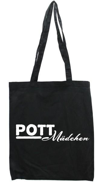 Tasche Pott-Mädchen, Druckfarbe auswählbar, Einkaufs-Beutel schwarz