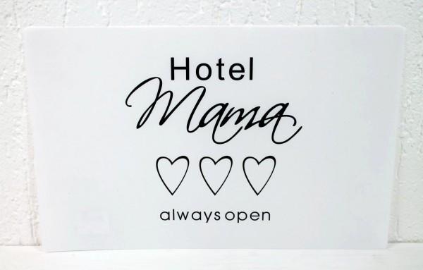 2x Platzset - HOTEL MAMA always open - 2 Stück - ca 44x28cm