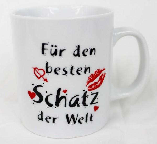 Tasse - Für Den Besten Schatz Der Welt - Valentinstag Liebe Geschenk Geburtstag